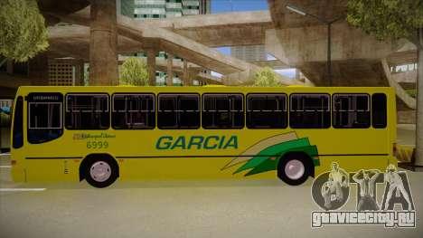 Busscar Urbanus SS Volvo B10 M garcia для GTA San Andreas вид сзади слева