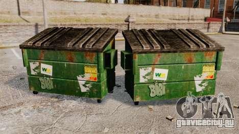 Мусорные контейнеры Waste Management, Inc. для GTA 4 второй скриншот