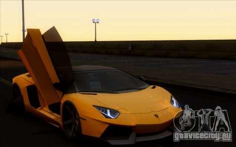 Lamborghini Aventador LP700-4 Vossen V2.0 Final для GTA San Andreas вид сзади слева