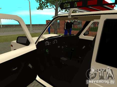 ВАЗ 21213 Нива для GTA San Andreas вид сзади
