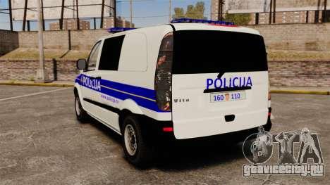 Mercedes-Benz Vito Croatian Police v2.0 [ELS] для GTA 4 вид сзади слева