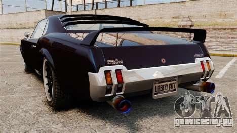 Новый вариант Sabre GT для GTA 4 вид слева