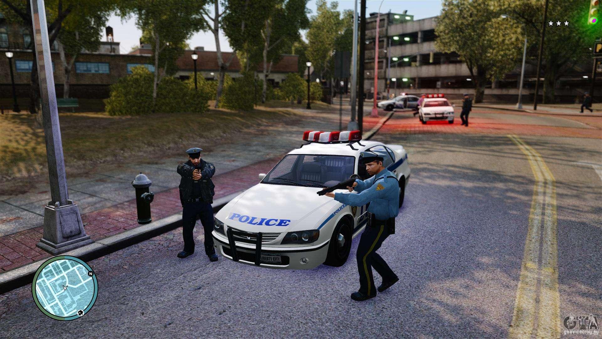 Скачать мод на гта 4 полиция мод