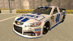 Chevrolet SS NASCAR No. 48 Lowes white