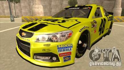 Chevrolet SS NASCAR No. 48 Lowes yellow для GTA San Andreas
