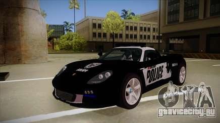 Porsche Carrera GT 2004 Police Black для GTA San Andreas