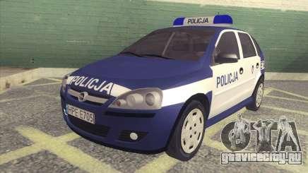 Opel Corsa C Policja для GTA San Andreas