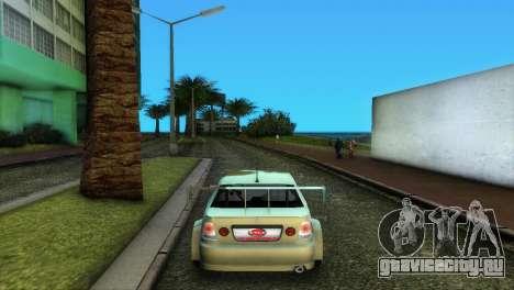 Lexus IS200 для GTA Vice City вид сзади