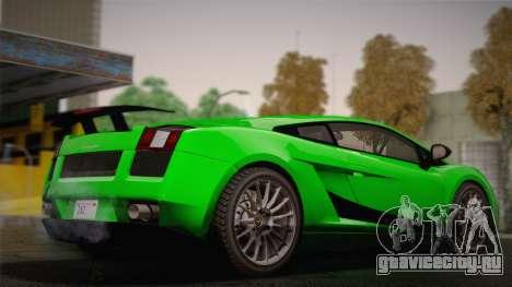 Lamborghini Gallardo Superleggera для GTA San Andreas вид изнутри