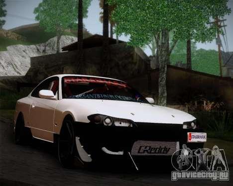 Nissan Silvia S15 JDM для GTA San Andreas вид сзади слева