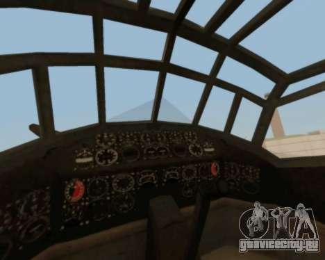 Junkers Ju-52 для GTA San Andreas вид сбоку