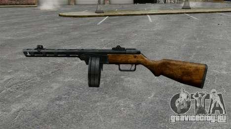 Пистолет-пулемёт Шпагина 1941г для GTA 4 третий скриншот