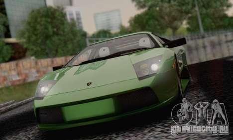 Lamborghini Murciélago 2005 для GTA San Andreas вид снизу