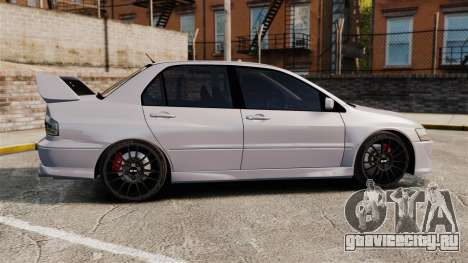 Mitsubitsi Lancer MR Evolution VIII 2004 Stock для GTA 4 вид слева