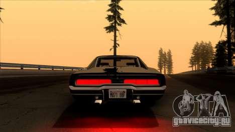 Dodge Charger 440 (XS29) 1970 для GTA San Andreas вид изнутри