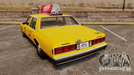 Chevrolet Caprice 1987 L.C.C. Taxi для GTA 4 вид сзади слева