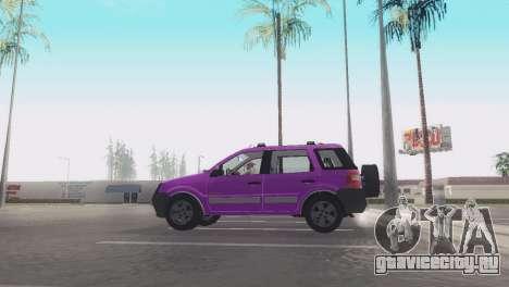 Ford EcoSport V2 для GTA San Andreas вид сзади слева