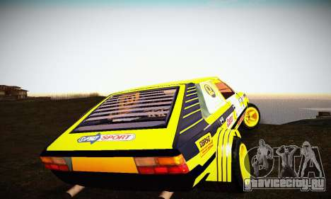 FSO Polonez 2500 Racing 1978 для GTA San Andreas вид изнутри