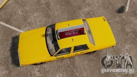 Chevrolet Caprice 1987 L.C.C. Taxi для GTA 4 вид справа