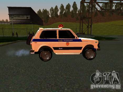 ВАЗ 212140 Полиция для GTA San Andreas вид сзади слева