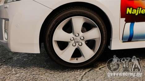 Toyota Prius 2011 Warsaw Taxi v4 для GTA 4 вид сзади