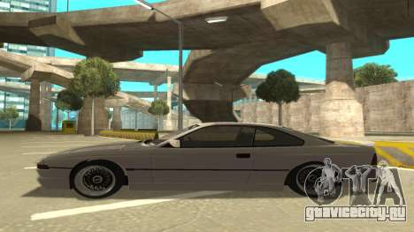 BMW 850CSi 1996 Stock version для GTA San Andreas вид сзади слева