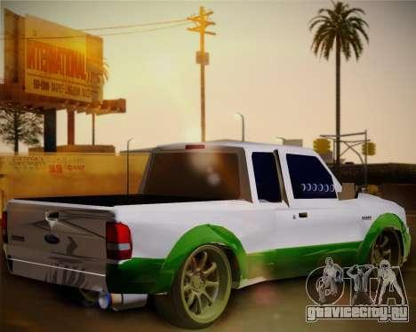 Ford Ranger 2005 для GTA San Andreas вид сзади слева
