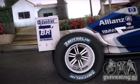 BMW Williams F1 для GTA San Andreas вид изнутри