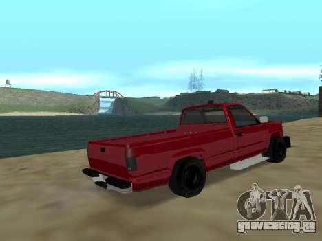 Chevrolet Silverado ATTF для GTA San Andreas вид сзади слева