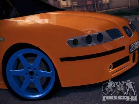 Seat Toledo Cupra R для GTA San Andreas вид сзади слева
