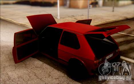 Volkswagen Golf Mk1 TAS для GTA San Andreas вид справа