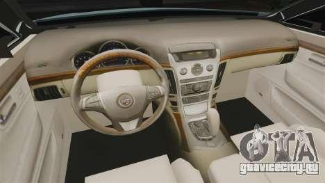 Cadillac CTS SW 2010 для GTA 4 вид изнутри