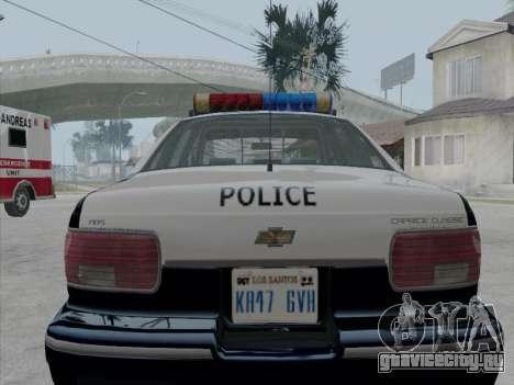 Chevrolet Caprice LVPD 1991 для GTA San Andreas вид справа