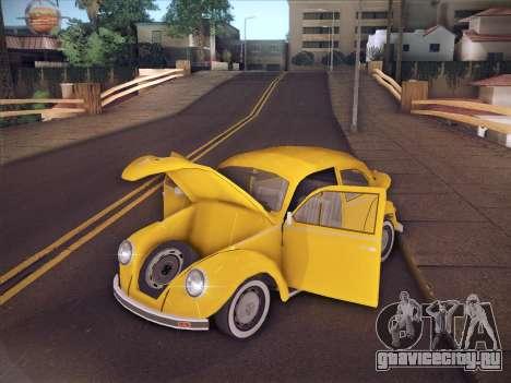 Volkswagen Käfer для GTA San Andreas вид снизу