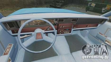 Chevrolet Caprice 1987 NYPD для GTA 4 вид сзади