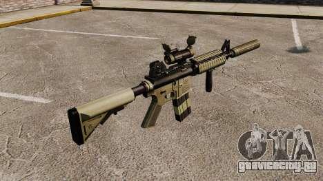 Автомат M4 с глушителем v1 для GTA 4 второй скриншот