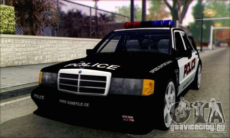 Mercedes-Benz 190E Evolution Police для GTA San Andreas