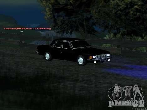 ГАЗ 3102 для GTA San Andreas вид изнутри