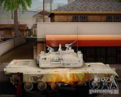 Abrams Tank Indonesia Edition для GTA San Andreas вид слева