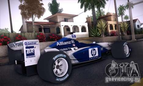 BMW Williams F1 для GTA San Andreas вид сзади