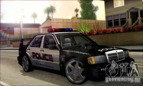Mercedes-Benz 190E Evolution Police для GTA San Andreas вид справа