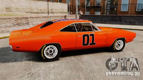 Dodge Charger 1969 General Lee v2.0 HD Vinyl для GTA 4 вид слева