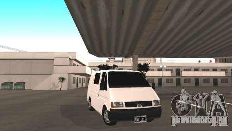 Renault Trafic для GTA San Andreas вид сзади