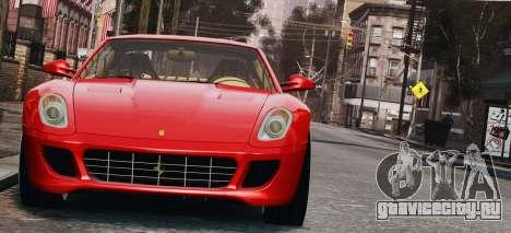Ferrari 599 GTB Hamann 2006 для GTA 4 вид изнутри