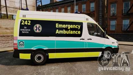 Mercedes-Benz Sprinter Australian Ambulance ELS для GTA 4 вид слева