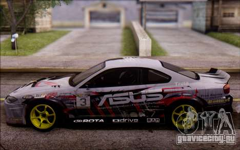 Nissan S15 Asus Team для GTA San Andreas вид справа