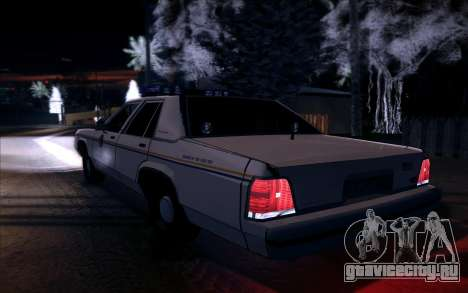 Police North Yankton для GTA San Andreas вид справа