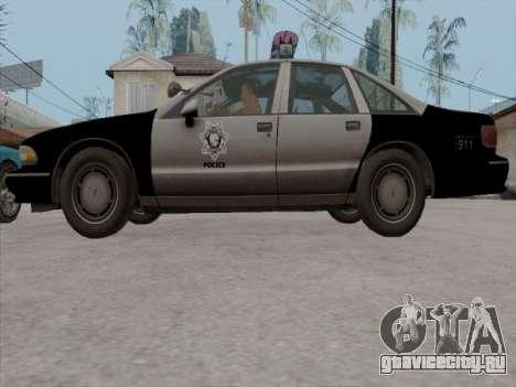 Chevrolet Caprice LVPD 1991 для GTA San Andreas вид сбоку