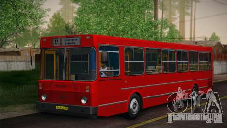 ЛиАЗ 5256.00 Скин-пак 6 для GTA San Andreas вид сзади слева