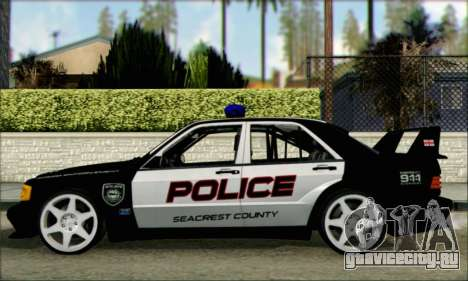 Mercedes-Benz 190E Evolution Police для GTA San Andreas вид слева